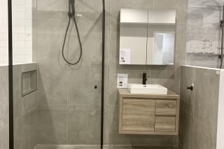 bathroom showroom display