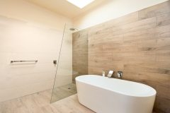 timber style bathroom renovation