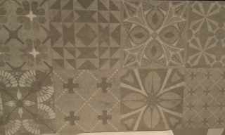 30x60 Grey Patterned Feature Wall