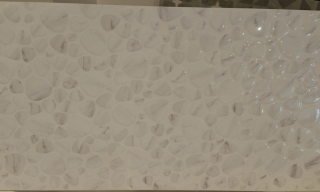 30x60 White Rectified Feature Wall Pebble