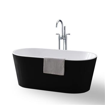 Buy A Black Amp White Free Standing Bath Online In Sydney