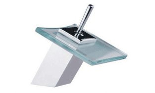 Square Glass Basin Mixer