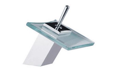 Square Glass Basin Mixer