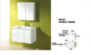 Willow Wall Hung Vanity 900mm-WH8027-900WL