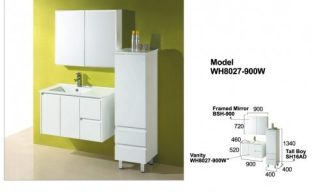 Willow Wall Hung Vanity 900mm-WH8027900W