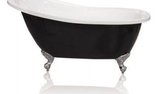 Black & White Slipper 1550 Freestanding Bath
