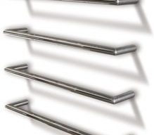 Single Heated Towel Rail - 600mm Round