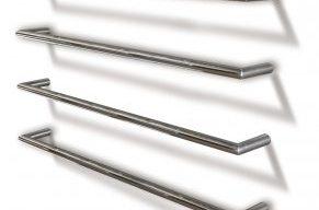 Single Heated Towel Rail - 850mm Round