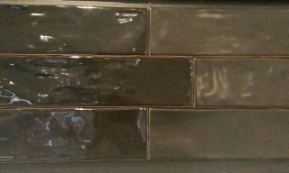 black subway tiles hand made