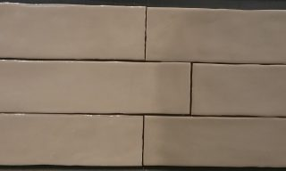 tan hand made sub way tiles
