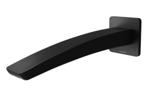 Rush Wall Bath Outlet - Matte Black