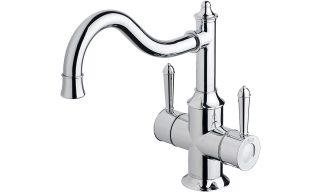 NS714 CHR Nostalgia Twin Handle Sink Mixer 220mm