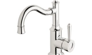 NS748 CHR Nostalgia Basin Mixer 160mm Shepherds Crook