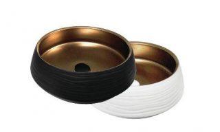 matte black matte white bronze basin